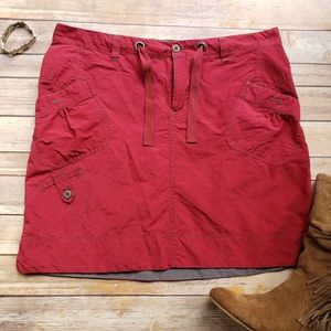 Columbia L Red Casual Skirt Drawstring Pockets